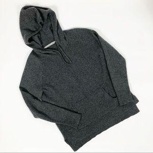 Athleta Cashmere Aurora Hoodie Tunic Sweater Gray